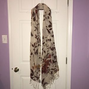 Fall patterned scarf